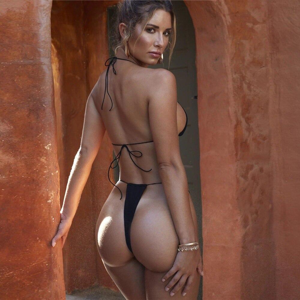 Amazing Solid Sexy Bikini Micro Mini G-String Bikini Set Women's Swimsuit Female Brazilian Sexy Thong Swimwear Women Swim Suit