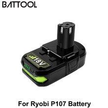 Battoolリョービ 3000 用 2600mah 18v P107 P108 リチウムイオン電池充電式RB18L40 P100 P102 P103 P104 P105 P107 電源ツールバッテリー