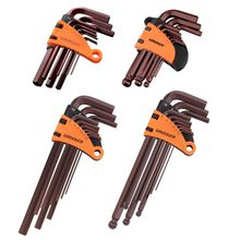 OOTDTY 9pcs 1.5-10mm Hexagon Allen Key Wrench Tools Spanner Screwdriver Set Flat Ball Ended Hand Tool