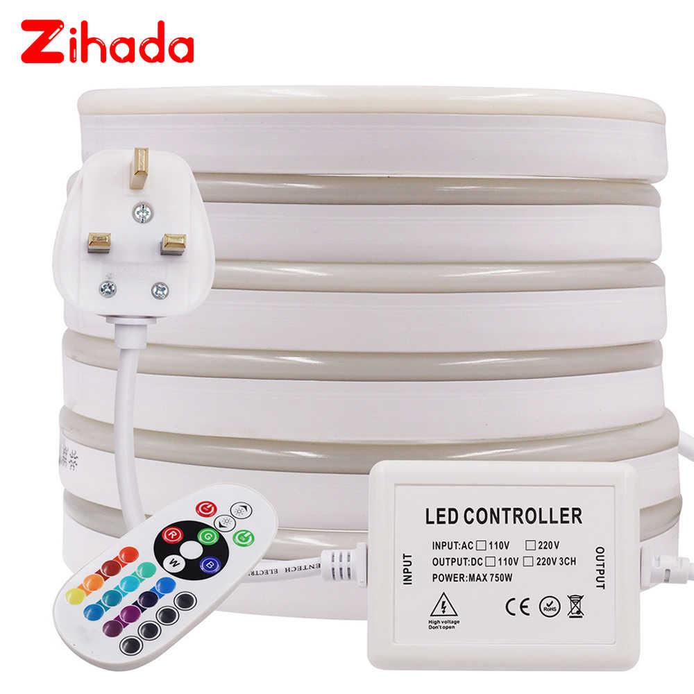 ĐÈN LED Đèn Neon AC220V SMD2835 Neon Dải Dây Băng 120 Đèn LED/m Ngoài Trời Chống Nước LED Ruy Băng Băng Ký Ánh Sáng trắng/Trắng Ấm/RGB