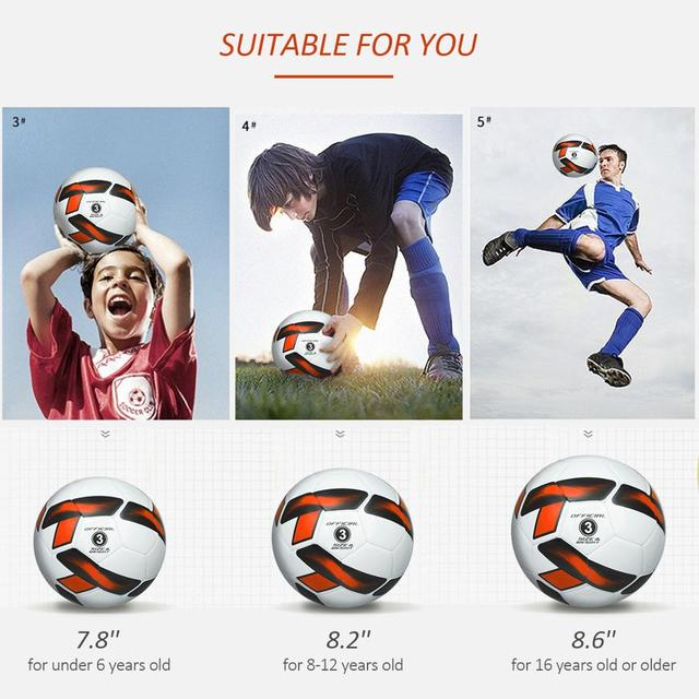Soccer Ball Sizes 3 4 5 Practice Traditional Soccer Balls for Kids Youth Adults Training Practice