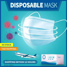 Fast Delivery 100/200pcs 3 Layer Disposable Mask Daily Dust Pollution Protective Mouth Mask Safety Elastic EarLoop Face Mask