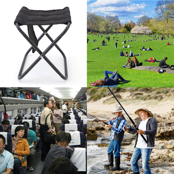 Camping Travel krzesło składany stołek na zewnątrz ze stopu aluminium z worek do przechowywania na zewnątrz wędkowanie przenośne akcesoria tanie i dobre opinie JOCESTYLE CN (pochodzenie) Folding Stool