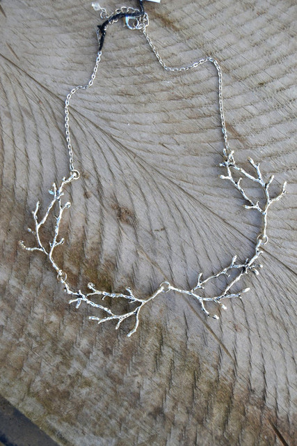 Silver Plated Antler Branch Necklace 1