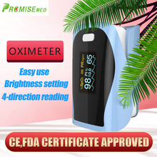 PRCMISEMED Household Health Monitors Heart Rate Monitor Finger Medical Oxygen SPO2 Pulse Oximeter Finger Meter Sky Blue