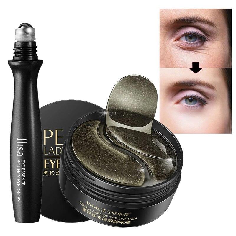 Black Pearl Eye patches Natural Moisturizing Gel Collagen Eyes Masks Remove Dark Circles Anti Age Bag Wrinkle 60PCS Skin Care M-0