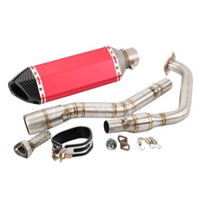 YZF R15 Motorcycle Akrapovic Exhaust And Link Pipe For Yamaha R125 2019 V3 2017-2019 YZF-R125 Escape Slip-on