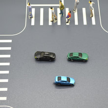 100pcs model LED light car toys 1:150 scale miniature car for diorama tiny architecture buildings making layout kits цена и фото