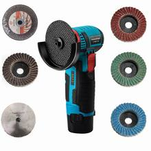 Mini 12 Volt. brushless cordless angle grinder mini cutter with saw blade