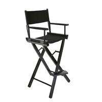 Panana Folding Wood Makeup Artist Directors Face Painters Chair for Home Salon Massage Makeup Outdoor Chair
