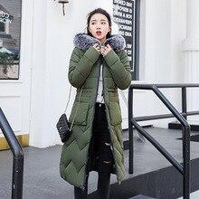 KMVEXO Casual Long Sleeve Warm Zipper Parkas Women Jacket With Fur Hooded 2019 Fashion Winter Wear On Both Sides Coat