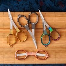 High Quality Zinc Alloy Folding Scissors Keychain Fishing Scissor Cutter Camping Tool Embroidery Scissors fabric Tailor Scissors
