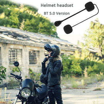 Wireless Bluetooth 5.0 Universal MH05 Motorcycle Scooter Helmet Headset Speaker Handsfree Music Call Control Headphone