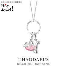 Charm Necklace Dog & Bone,2020 Spring Ts Fashion Charm Cute