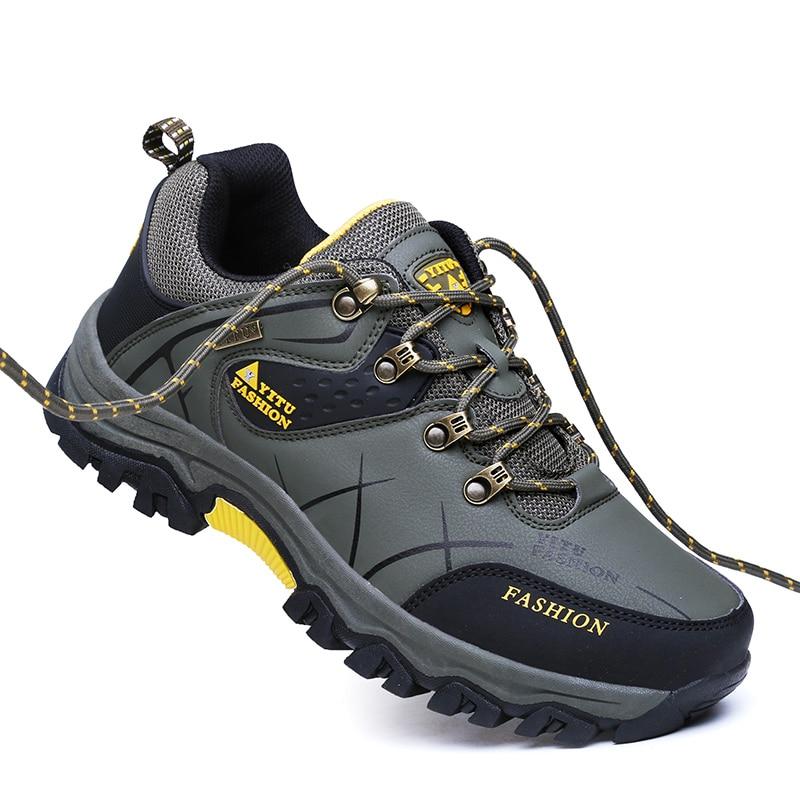 TaoBo/меховая походная обувь; мужские уличные ботинки; Водонепроницаемая зимняя обувь для альпинизма; кроссовки для охоты; мужские кроссовки; ...