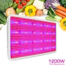 1200W Led Grow Light 1200 LEDs Full Spectrum Super Power UV IR Phytolamp For Plants Vertical Farming  Flower Seeds Grow Tent Kit