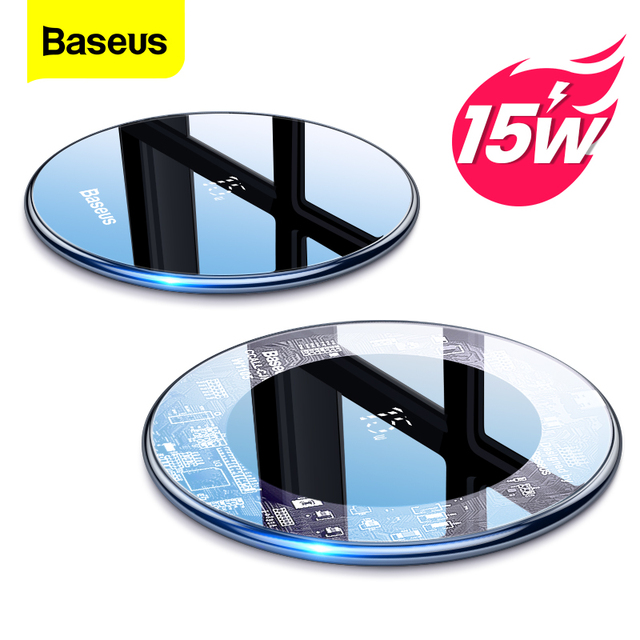 Baseus 15W Qi Wireless Charger for iPhone 12 11 Pro Max Xs Induction Fast Wireless Charging Pad for Samsung Xiaomi POCO X3 M3 F3 1
