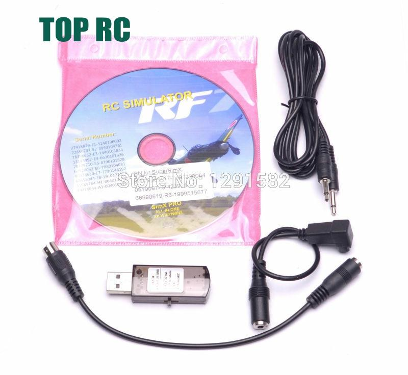 Newest 22 in 1 <font><b>RC</b></font> <font><b>USB</b></font> Flight Simulator Cable for Realflight G7 G6 G5.5 G5 For Helicopter Quadcopter image