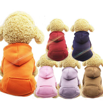 Pet Dog Hoodie Coat With Hood Soft Fleece Warm Puppy Clothes Dog Sweater Pet Coat Jacket Winter Dog Clothes For Dogs Cats image