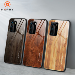 Unique Wood Tempered glass Case For Huawei P20 P30 P40 Lite Mate 30 Pro Honor 10 20 10i 20i P Smart Plus 2019 Mobile Phone Cover(China)