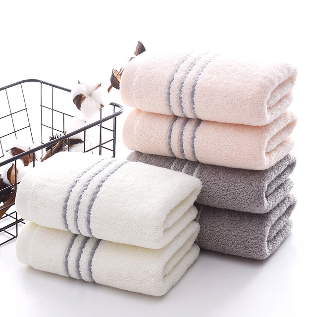 Cotton Towel 34*74cm 110g Pure Cotton Towel Long Staple Cotton Three-section Towel Thickened Face Towel