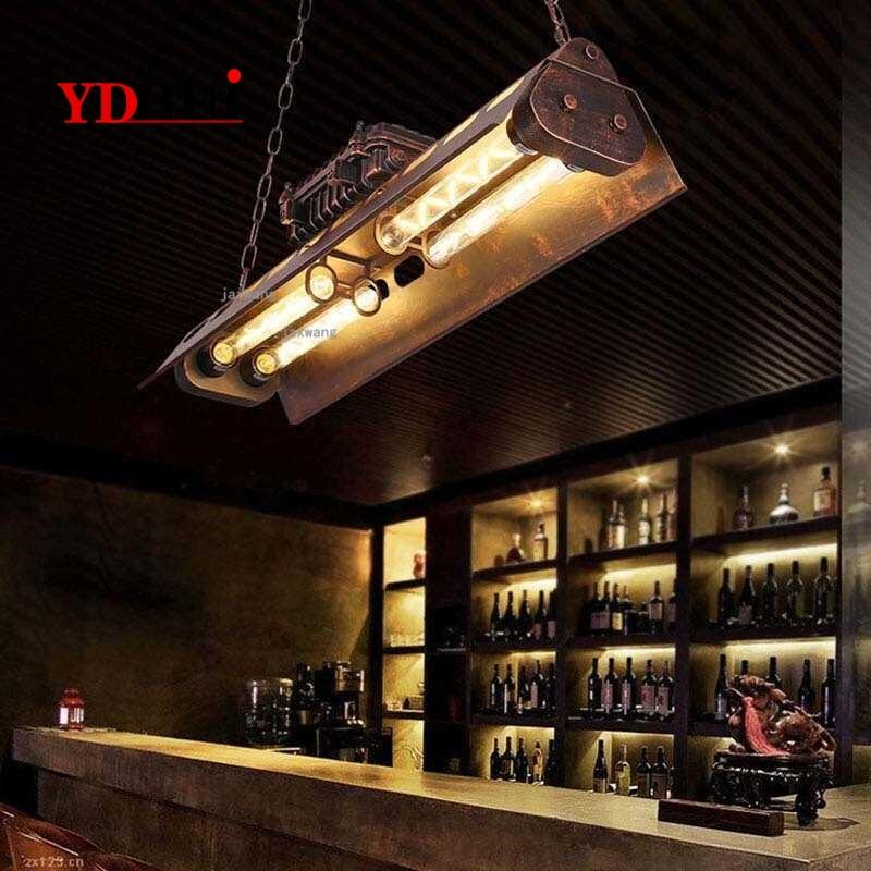 Industrielle Vintage Led Anhänger Lampe Lichter Hängen Lampe Licht Leuchte Moderne Hängende Decken Lampen Kronleuchter Beleuchtung QCD65