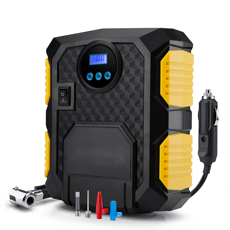 Tire Inflator Air-Compressor-Pump Bicycles Digital 12-Volt Portable 150-Psi Car DC  title=