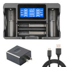 LCD Smart Battery Charger For 18650 26650 22650 20700 21700 18350 17670 17500 16340 14500 10440 AA AAA NiMH NICD Lithium Battery original klarus ch4s smart battery charger ac usb input 4 slot lcd intelligent battery charger for c aa aaa 18650 26650 14500