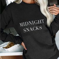 New Arrival For 2019 Fashion Hot Sales Women Lady Long Sleeve Round Collar Letters Sweatshirt Top Pullover for Autumn Winter K2