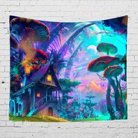 Colorful Fairytale Wall Covering Trippy Fabric Tapestry Bedroom Living Room Wall Hanging Decoration Blanket|Decorative Tapestries| |  -