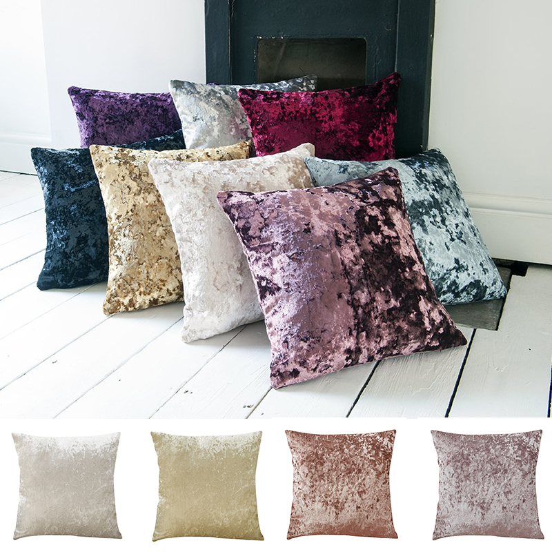 Super Soft Cushion Cover Crushed Velvet Pillow Cover For Living Room Sofa 45x45cm Decorative Kussenhoes Nordic Housse De Coussin