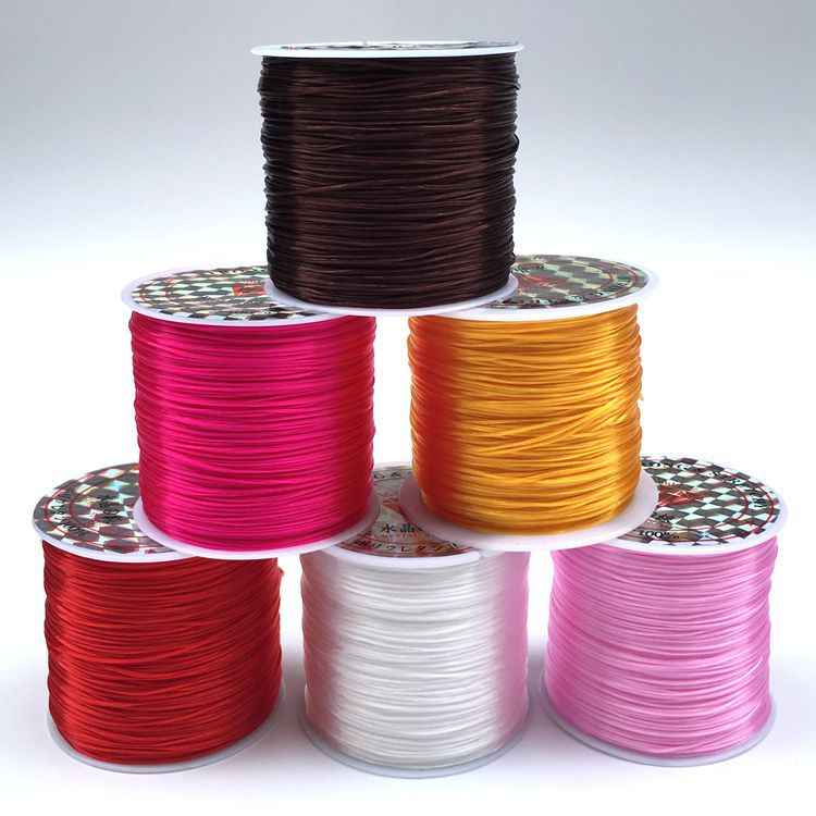 60m/bag 1mm Round Elastic Cord Beading Stretch Thread String Rope for Necklace Bracelet Jewelry Making Supply