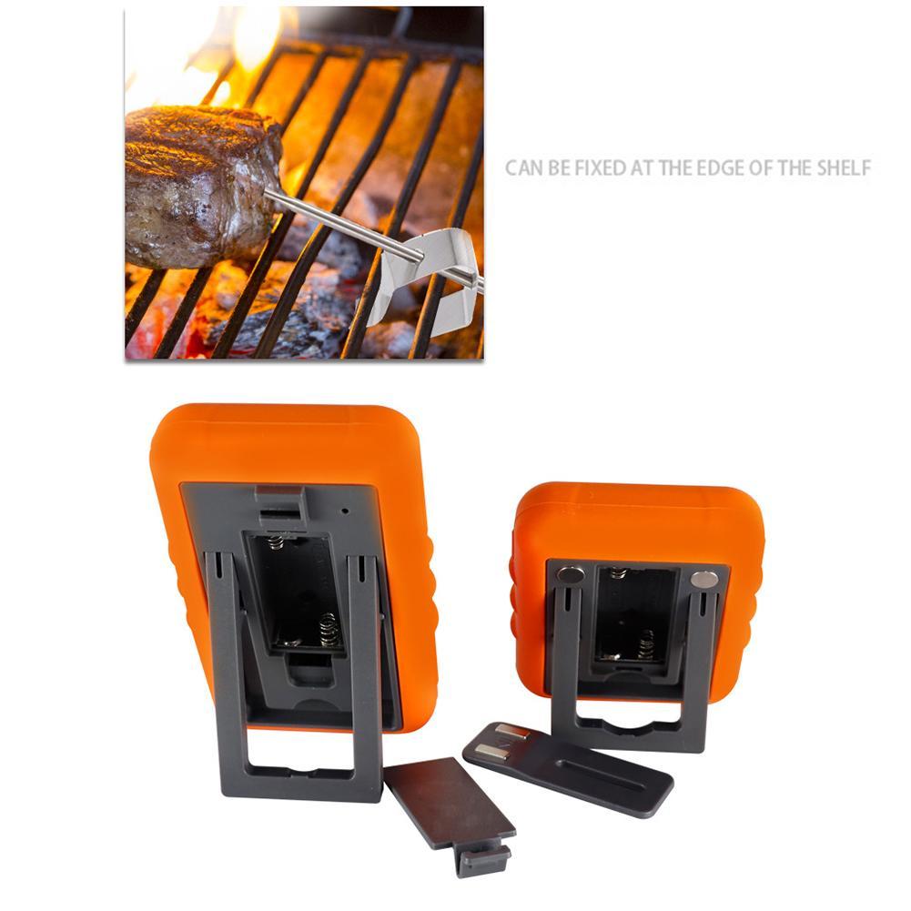 Беспроводной цифровой термометр для мяса, цифровой прибор для приготовления пищи, измерения температуры, приемник для барбекю, гриля, кухни... - 4