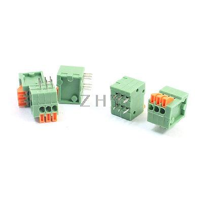 150V 2A 2.54mm 6 Pin DIP Pluggable Type Screwless PCB Terminal Blockx 5|Connectors| |  - title=