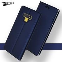 Funda de cuero con tapa para Samsung Galaxy Note 9, funda billetera para Samsung Note 8 9
