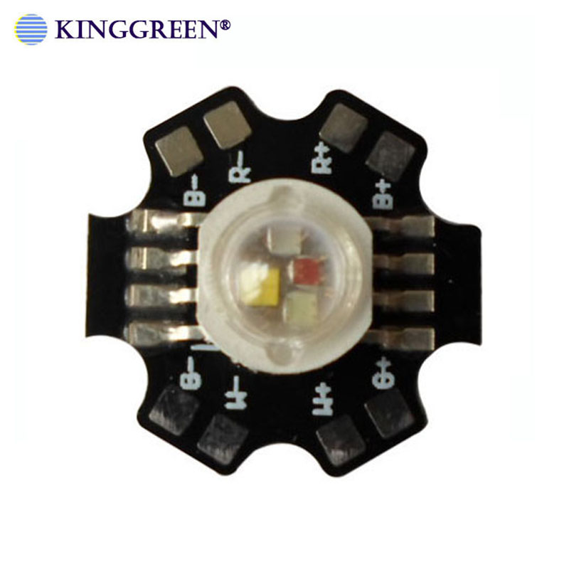 20X Supper bright 4W 12W  RGBW  LED lamp beads 45mil Epileds chip 8 pin  high power RGBW light source free shipping