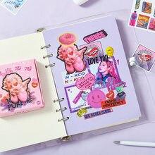 Mohamm 60 Pcs/Box Creative And Cute Sticker Scrapbooking Stationery School Supplies