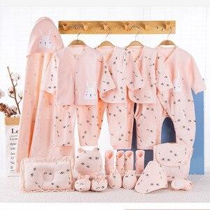Image 4 - Ensemble de vêtements pour nouveau né, 19 pièces, en coton, vêtements pour bébés, filles et garçons, pour le printemps et lautomne