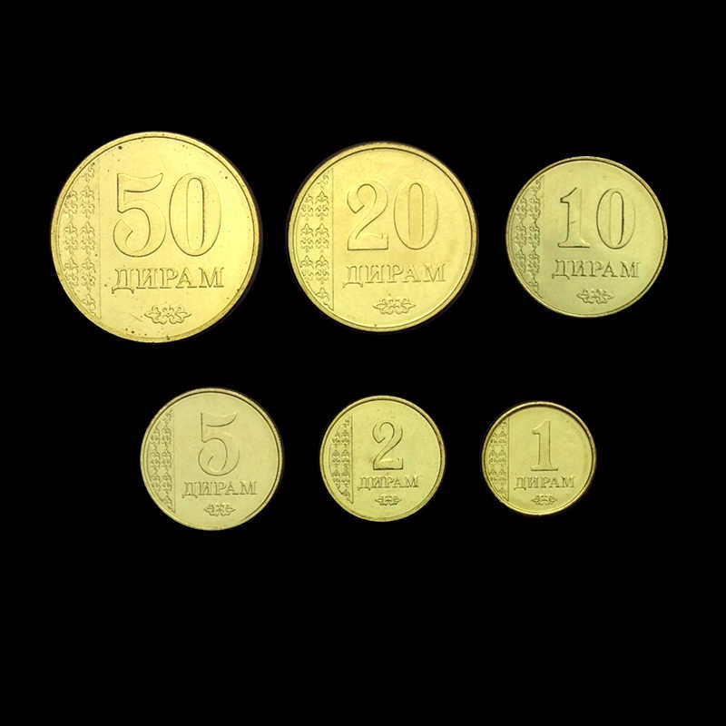 Tayikistán conjunto de 6 piezas 2011 nuevo Original y genuino monedas 100% Real recoger la emisión de monedas Unc Asia