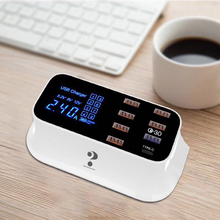 Multi Fast USB Charger Quick Charge 3.0 LED Display USB Phone Charging Station Charger Power Bank Fast Charger for Phone Tablet charger uninterruptible power energy гарант 2000 economical idle running colored led display