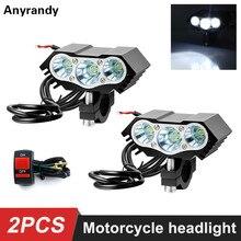 12V 36V 30W 4000LM XM L T6 LED motosiklet far Spot İş işık Offroad sürüş ışık scooter spot (anahtar ile)