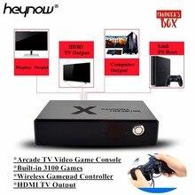 HEYNOW פנדורה תיבת מיני ארקייד וידאו משחק קונסולת HDMI פלט 3160 משחקי אור ירח אוצר תיבת רטרו ארקייד משחק נגן 3D משחק
