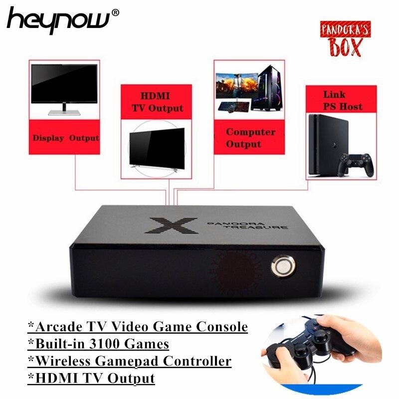 HEYNOW Pandora Box Mini Arcade Video Game Console HDMI Output 3100 Games Moonlight Treasure Box Retro Arcade Game Player 3D Game(China)