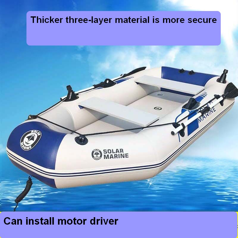 Large Inflatable Boat Luxury Configuration With Advanced Boat Motor Drive Fishing Swimming Tool