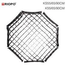 Triopo 55 センチメートル 65 センチメートル 90 センチメートル 120 センチメートルラソフトボックスディフューザー用triopo折りたたみソフトボックスオクタゴン傘ソフトボックス (グリッドのみ)