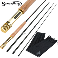 Sougayilang 2.7M 4 Sections 5/6 Fly Fishing Rod Multiple Styles Carbon Fiber Fishing Rod Dual Use Spinning Bass Fishing Pole