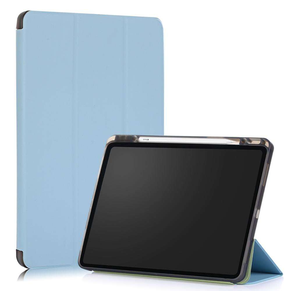 5 Black Tablet Case for iPad Pro 12 9 2020 Case Solid 12 9 Inch Smart Cover Funda