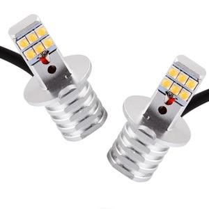 Image 5 - 1 adet H1 H3 Led ampul 12V 24V 60W 12SMD Led cips Led sis far 650LM 6000K sis işık otomatik far lambaları otomobil