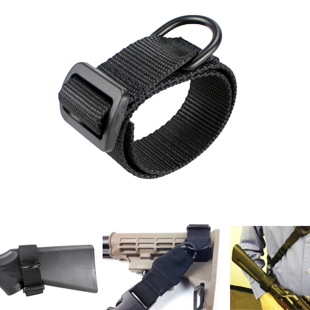 Outdoor Military Airsoft Tactical ButtStock Sling Adapter Rifle Stock Gun Strap Gun Rope Strapping Belt Hunting Accessories
