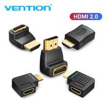 Tions HDMI Extender Männlichen zu Weiblichen 270 90 Grad Rechtwinklig HDMI Konverter Adapter Koppler für Monitor TV PS4 HDMI stecker
